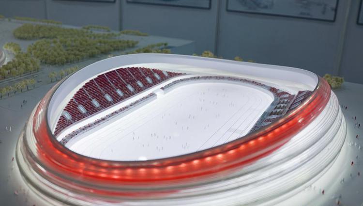 2022년 베이징 동계올림픽 스피드스케이팅 경기장 디자인 공개, '아이스 리본'으로 꾸며진다