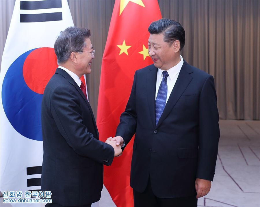 시진핑 中 국가주석, 문재인 한국 대통령 회견